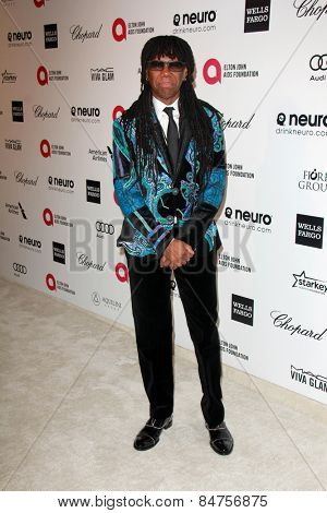 LOS ANGELES - FEB 22:  Nile Rodgers at the Elton John Oscar Party 2015 at the City Of West Hollywood Park on February 22, 2015 in West Hollywood, CA