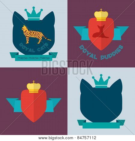 Royal pets flat badges