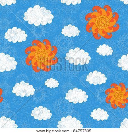 Vintage Sky Seamless Pattern