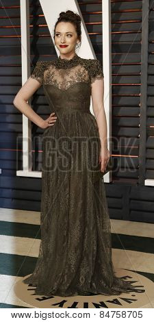 LOS ANGELES - FEB 22:  Kat Dennings at the Vanity Fair Oscar Party 2015 at the Wallis Annenberg Center for the Performing Arts on February 22, 2015 in Beverly Hills, CA