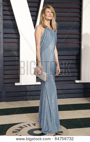 LOS ANGELES - FEB 22:  Laura Dern at the Vanity Fair Oscar Party 2015 at the Wallis Annenberg Center for the Performing Arts on February 22, 2015 in Beverly Hills, CA