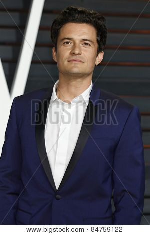 LOS ANGELES - FEB 22:  Orlando Bloom at the Vanity Fair Oscar Party 2015 at the Wallis Annenberg Center for the Performing Arts on February 22, 2015 in Beverly Hills, CA