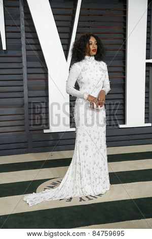 LOS ANGELES - FEB 22:  Beyonce Knowles at the Vanity Fair Oscar Party 2015 at the Wallis Annenberg Center for the Performing Arts on February 22, 2015 in Beverly Hills, CA