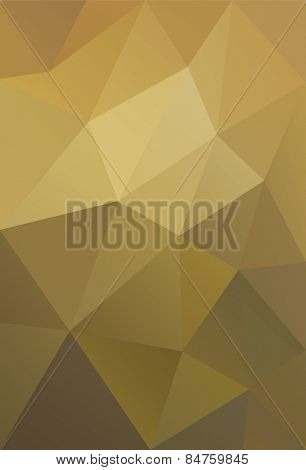 Vector Illustration of Golden Low Poly Background