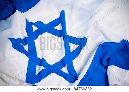 Flag of the nation of Israel with the star of David