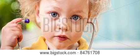 Cute Toddler With Stethoscope