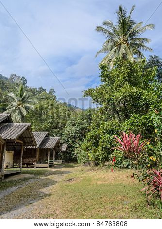 Thai Countryside Hut With The Garden