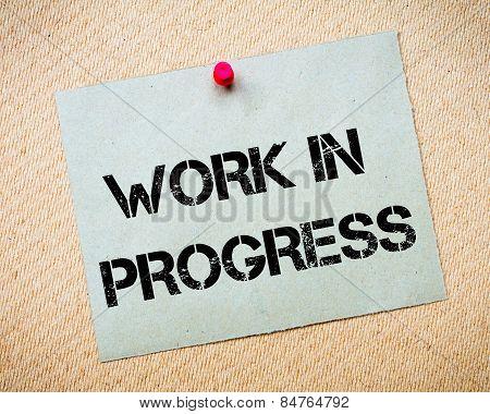 Work In Progress Message