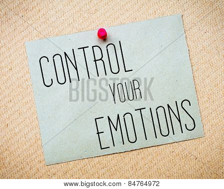 Control Your Emotions  Message