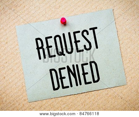 Request Denied Message