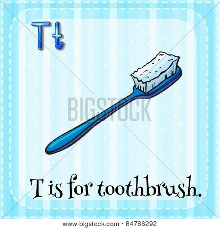 Alphabet T is for toothbrush