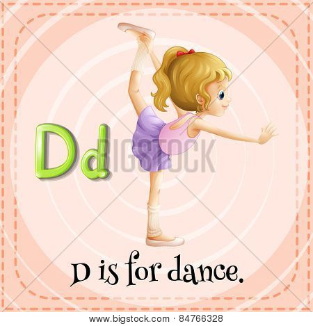 Alphabet D is for dance