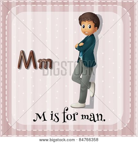Alphabet M is for man