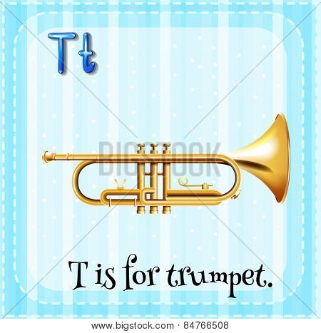 Alphabet T is for trumpet