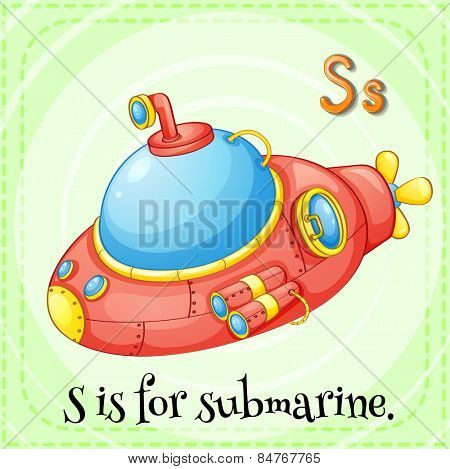 Alphabet S is for submarine