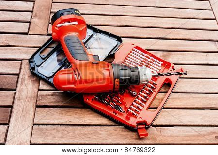 Bits Set And Drill Driver