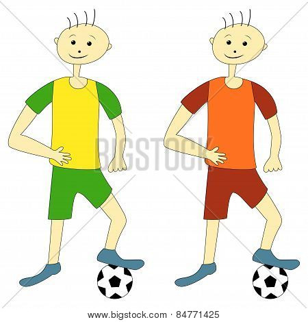 Cartoon Football Players