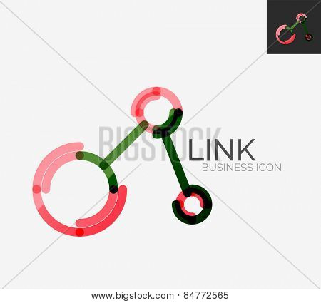 Minimal line design logo, business connection icon, branding emblem