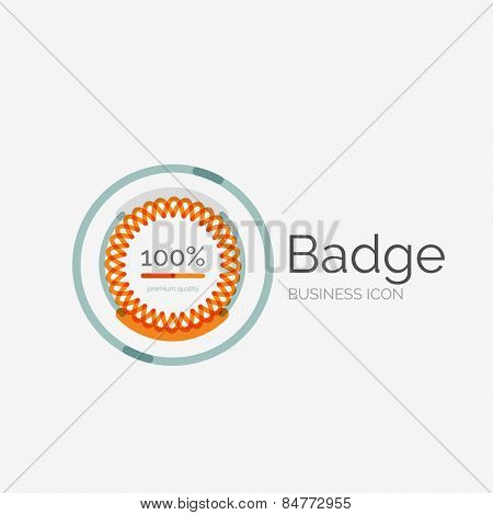 Thin line neat design logo, clean modern concept, premium quality stamp