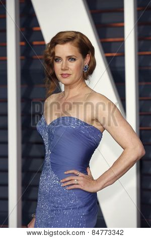 LOS ANGELES - FEB 22:  Amy Adams at the Vanity Fair Oscar Party 2015 at the Wallis Annenberg Center for the Performing Arts on February 22, 2015 in Beverly Hills, CA