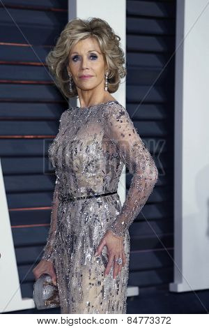 LOS ANGELES - FEB 22:  Jane Fonda at the Vanity Fair Oscar Party 2015 at the Wallis Annenberg Center for the Performing Arts on February 22, 2015 in Beverly Hills, CA