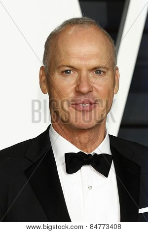 LOS ANGELES - FEB 22:  Michael Keaton at the Vanity Fair Oscar Party 2015 at the Wallis Annenberg Center for the Performing Arts on February 22, 2015 in Beverly Hills, CA