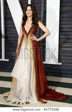LOS ANGELES - FEB 22:  Andie MacDowell at the Vanity Fair Oscar Party 2015 at the Wallis Annenberg Center for the Performing Arts on February 22, 2015 in Beverly Hills, CA