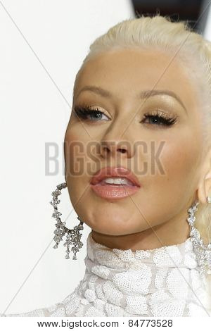 LOS ANGELES - FEB 22:  Christina Aguilera at the Vanity Fair Oscar Party 2015 at the Wallis Annenberg Center for the Performing Arts on February 22, 2015 in Beverly Hills, CA
