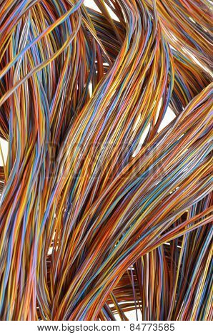 Network cables, wires in telecommunication systems