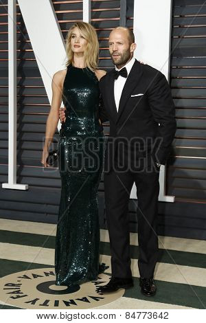 LOS ANGELES - FEB 22:  Rosie Huntington-Whiteley, Jason Statham at the Vanity Fair Oscar Party 2015 at the Wallis Annenberg Center for the Performing Arts on February 22, 2015 in Beverly Hills, CA