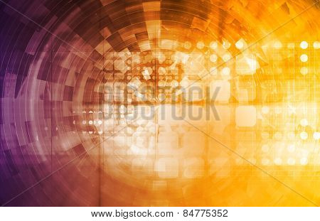 Projecting the Future in a Digital Art Abstract