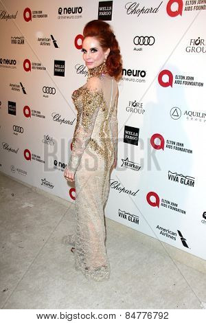 LOS ANGELES - FEB 22:  Phoebe Price at the Elton John Oscar Party 2015 at the City Of West Hollywood Park on February 22, 2015 in West Hollywood, CA