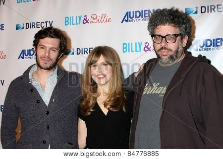 LOS ANGELES - FEB 25:  Adam Brody, Lisa Joyce, Neil LaBute at the