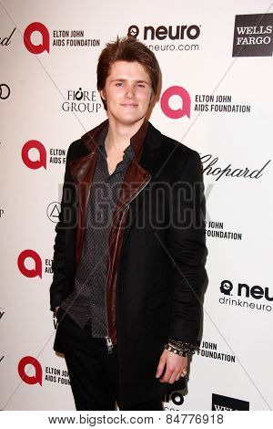 LOS ANGELES - FEB 22:  Eugene Simon at the Elton John Oscar Party 2015 at the City Of West Hollywood Park on February 22, 2015 in West Hollywood, CA