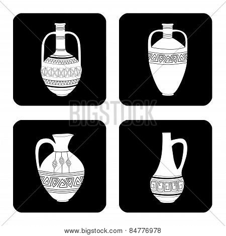 Icons Set Of Jugs