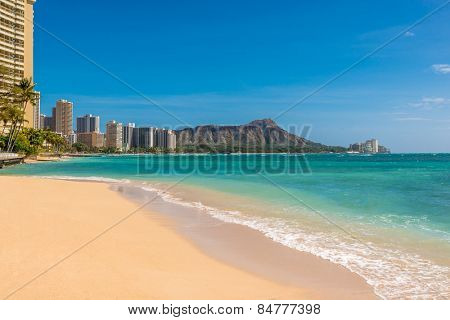 Waikiki Beach in Honolulu,Hawaii