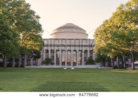 CAMBRIDGE, USA - MAY 29. main building of the famous Massachusetts Institute Technology , MA,  showc
