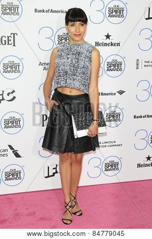 SANTA MONICA - FEB 21: Andrea Suarez Paz at the 2015 Film Independent Spirit Awards on February 21, 2015 in Santa Monica, California