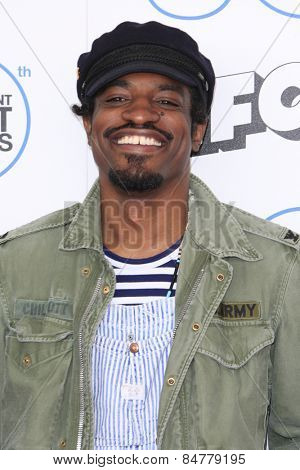 SANTA MONICA - FEB 21: Andre Benjamin at the 2015 Film Independent Spirit Awards on February 21, 2015 in Santa Monica, California