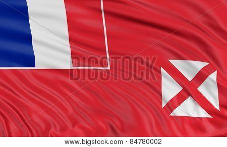 3D Flag of Wallis and Futuna Islands