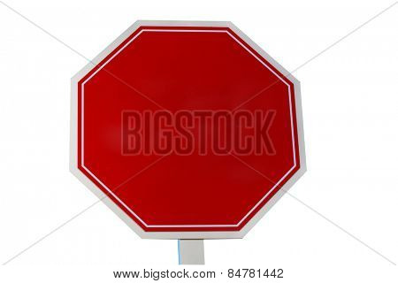 A blank stop sign or traffic, street sign