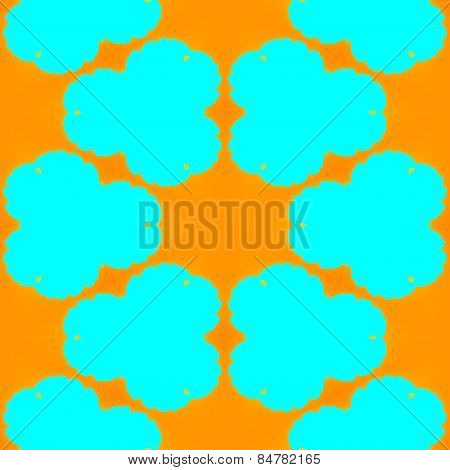 Abstract tileable yellow orange turquoise pattern