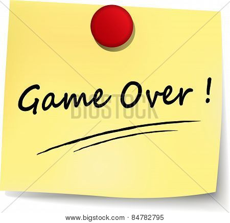 Game Over Yellow Note