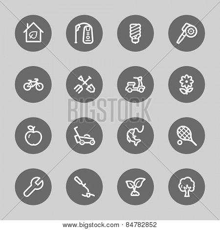 Gardening Equipment Web icons