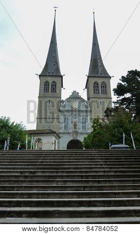 The Church of St. Leodegar, Lucerne