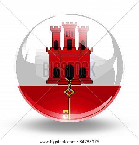 3D, crystal sphere Gibraltar