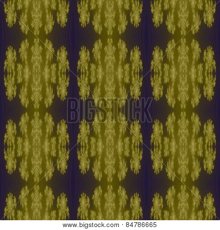 Glowing golden yellow pattern on blue-purple background