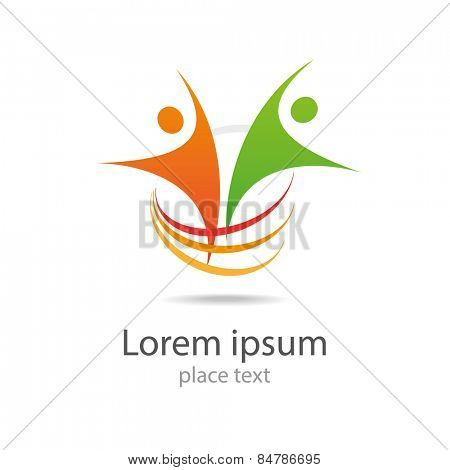 Design vector logo element Abstract people icon