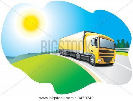 Truck - transport and logistics