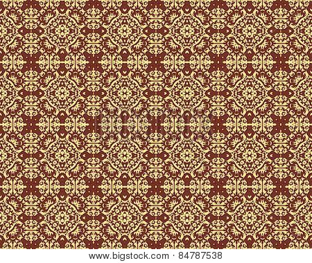 Kaleidoscope Gold seamless pattern for Your Desing